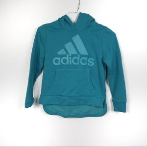 L440 Adidas Teal Logo Hoodie Size Small 7/8
